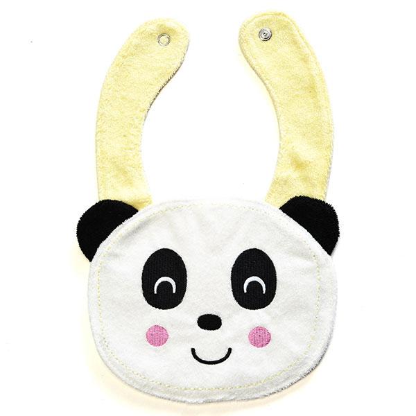 歌瑞贝儿(新)--可爱小熊猫造型围嘴GB130-067WX黄混码个