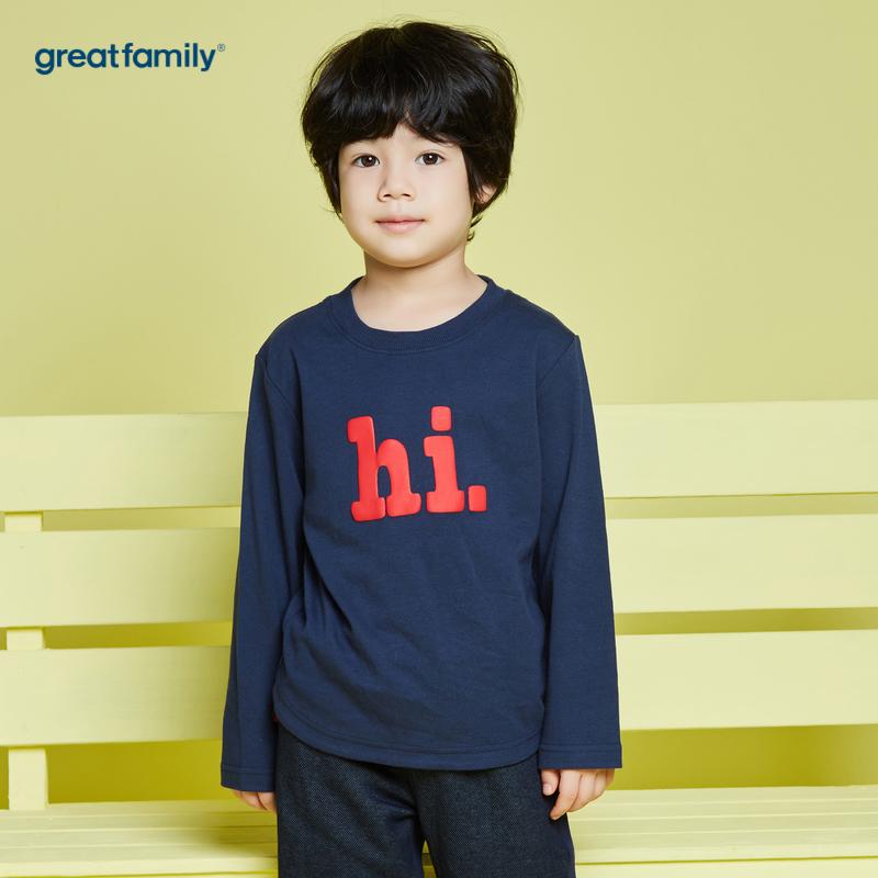歌瑞家A类蓝男宝宝长袖T恤80CM