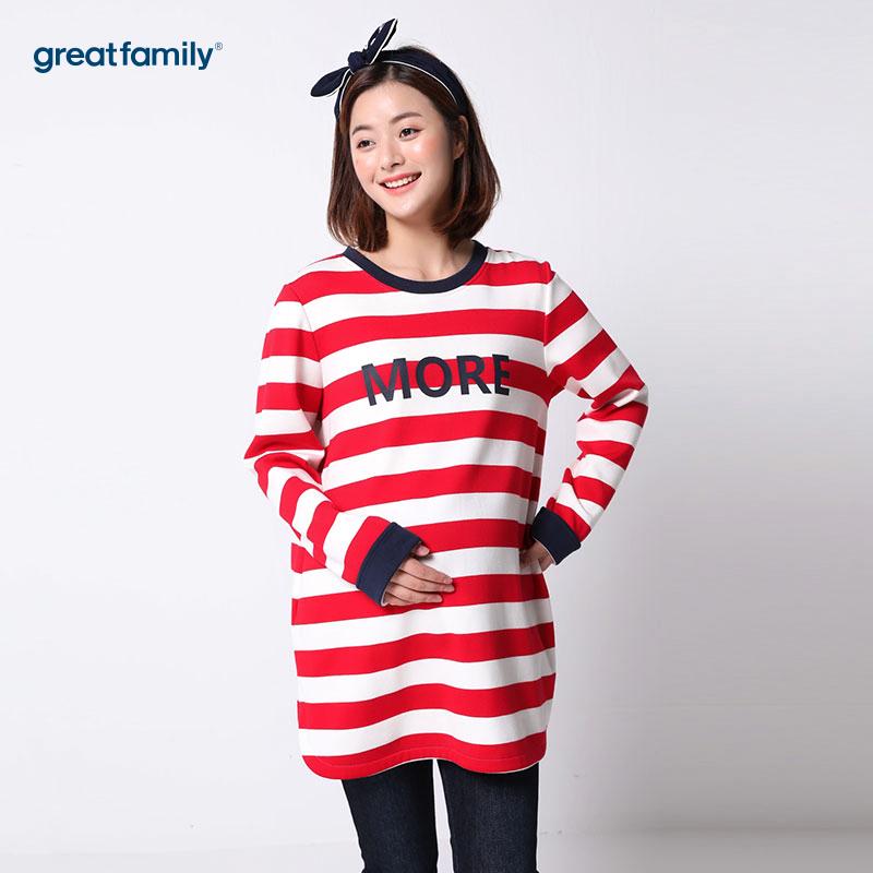 歌瑞家(greatfaimly)条纹上衣红