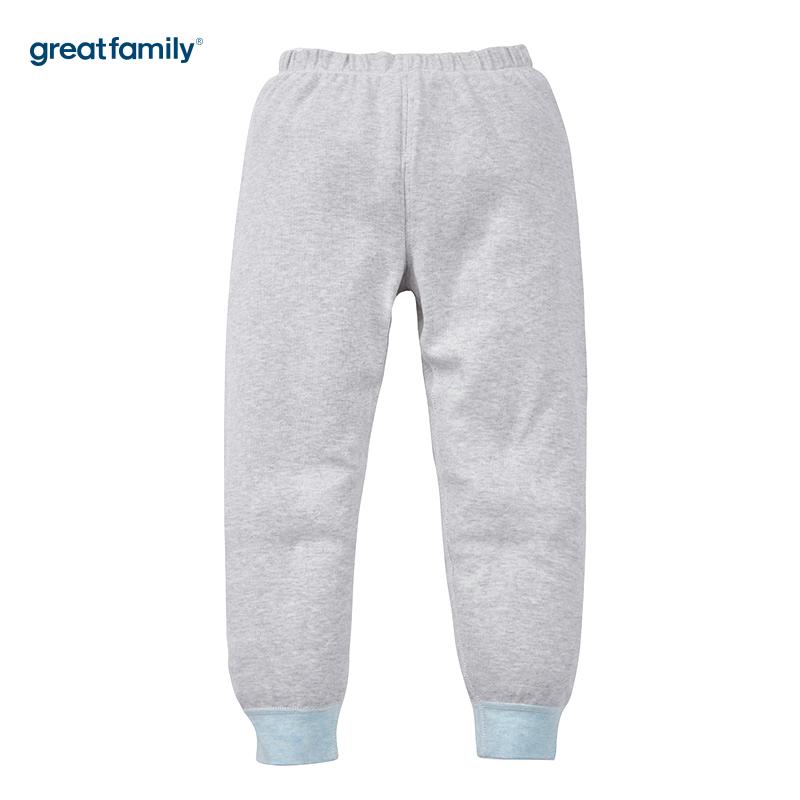 歌瑞家(Greatfamily)A类男童灰色舒绒长裤/家居裤