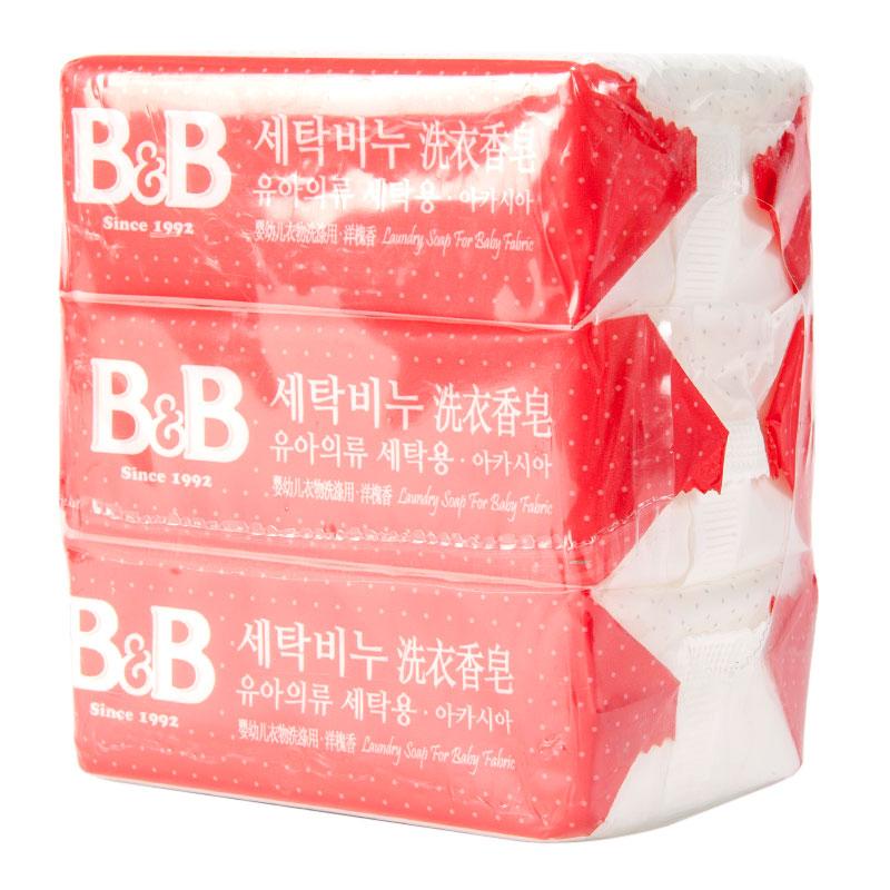 保宁B&B韩国进口洗衣香皂(洋槐香味)200g*3块