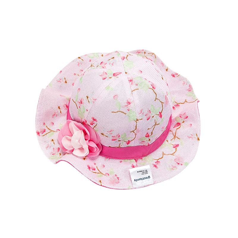 歌瑞家女童粉色盆帽