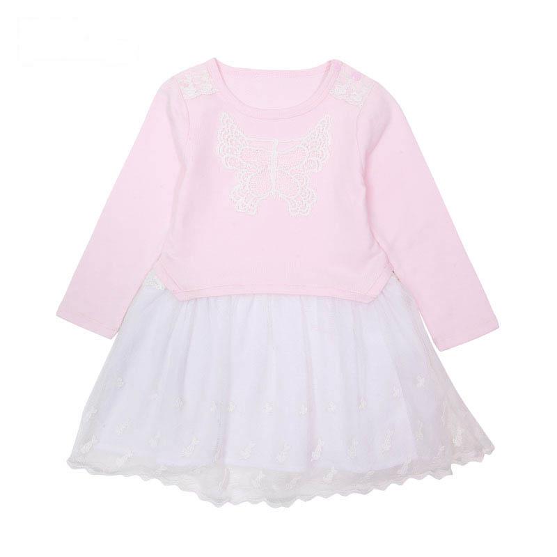 歌瑞家A类女童粉色连衣裙