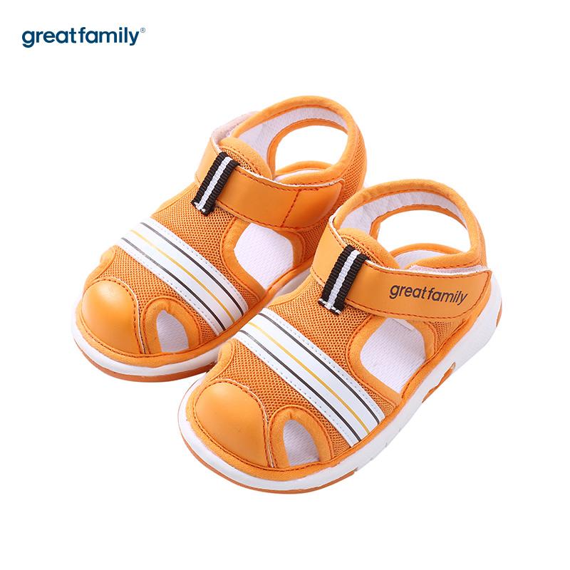 歌瑞家(greatfamily)男婴素色凉鞋GB182-016SH黄13CM双