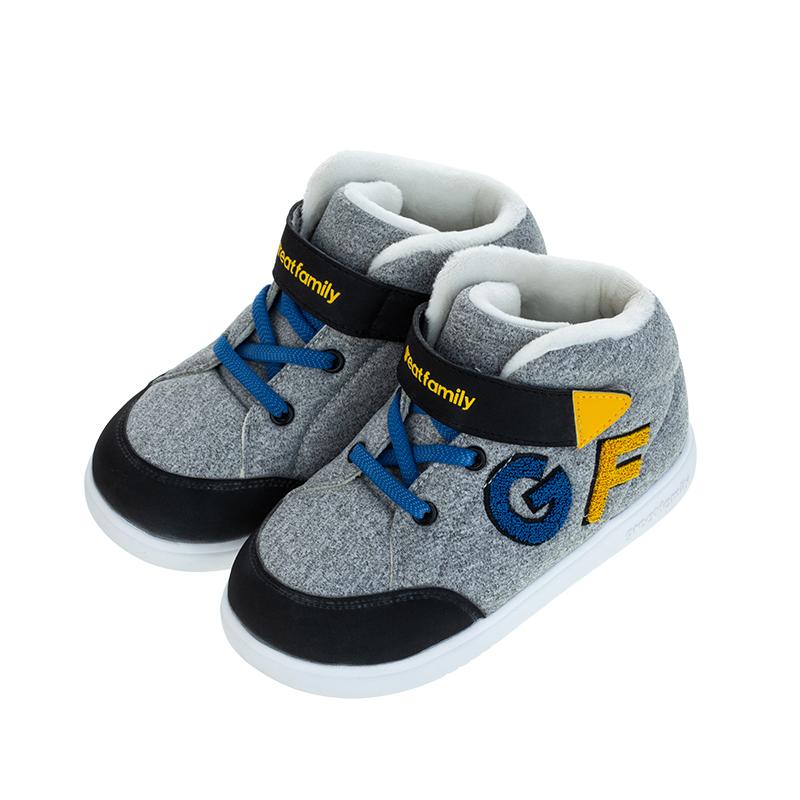 歌瑞凯儿(新)男婴滑板鞋GKR4-003SH灰16CM双