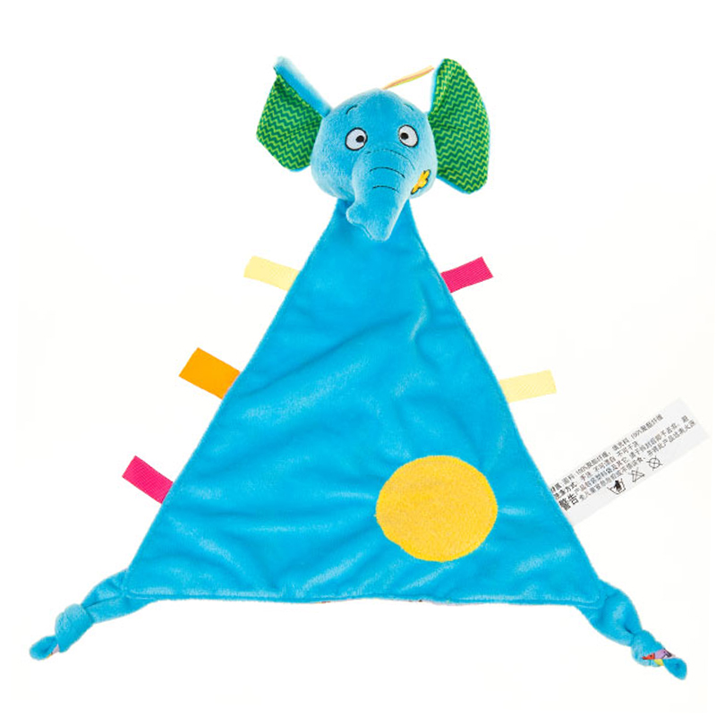 字母超柔顺滑宝宝安抚巾大象玩具