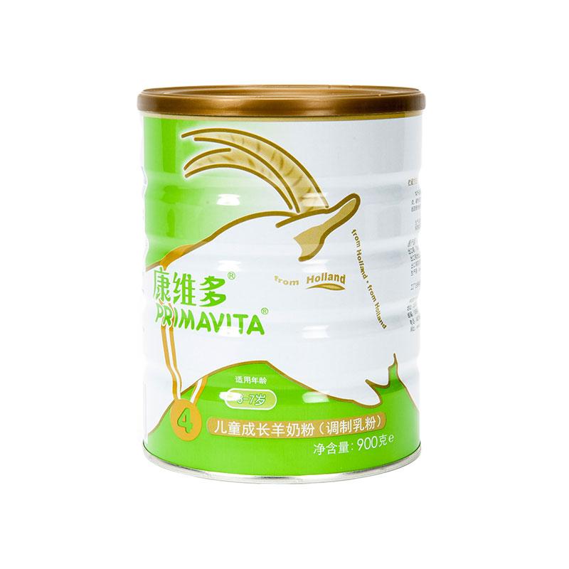 康维多儿童成长羊奶粉(调制乳粉)3-7岁900g桶
