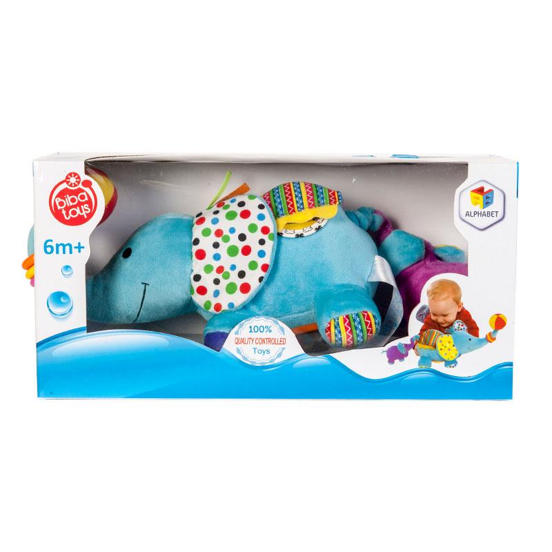 字母--大象拉小象益智毛绒玩具