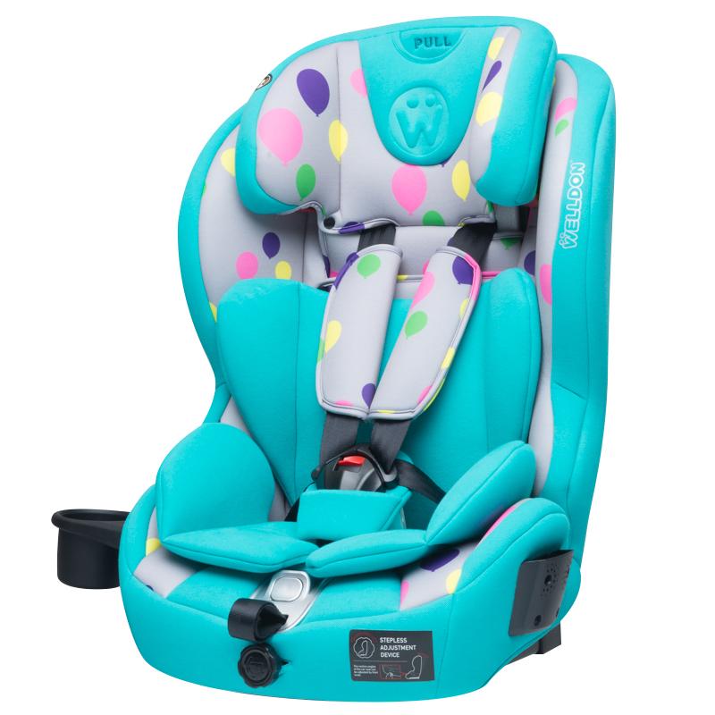惠尔顿酷睿宝儿童汽车安全座椅蒂芙尼蓝9-36kg