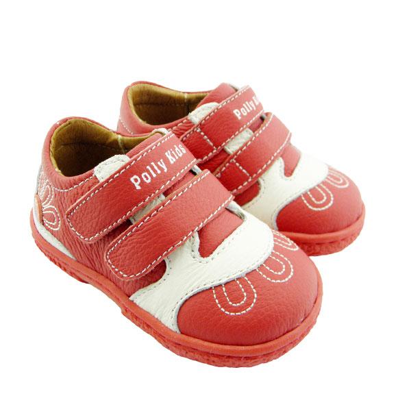 比士尼(新)--真皮学步鞋9766红14码双