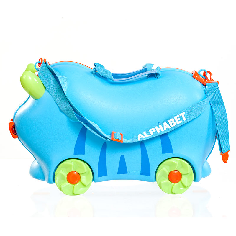 字母儿童旅行箱蓝色 材质安全环保 耐磨抗摔