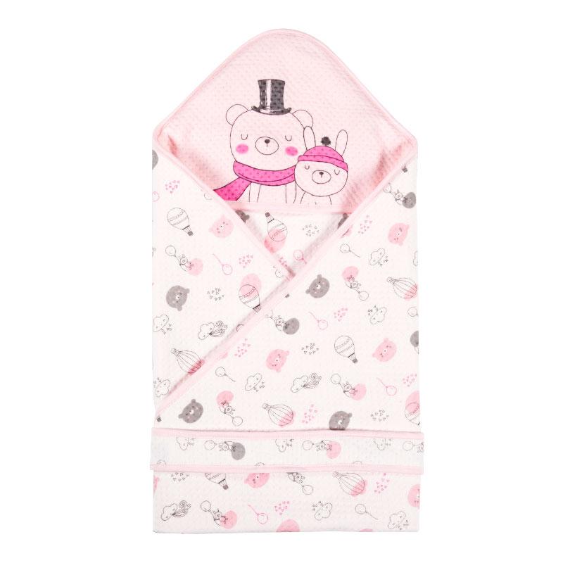 歌瑞家三保暖抱被90*90cm粉色