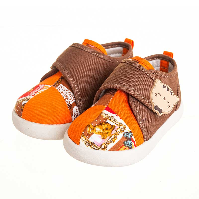 歌瑞贝儿(新)--猫猫学布鞋(女婴儿鞋)GB143-028SH咖色14CM