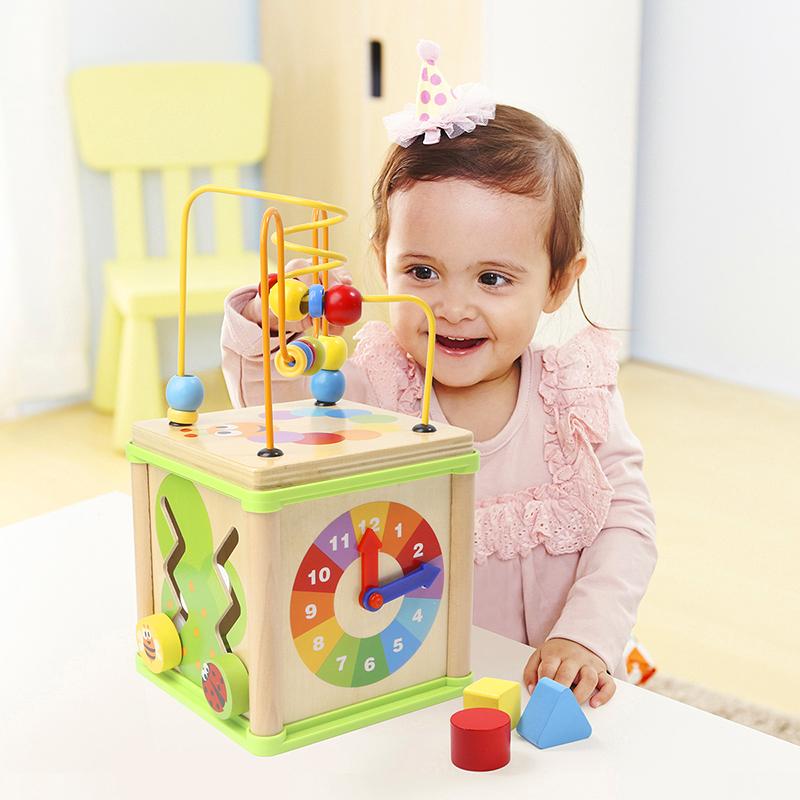 特宝儿(Topbright)四面铁线 串珠绕珠 百宝箱宝宝益智玩具(1岁及以上适用)120140