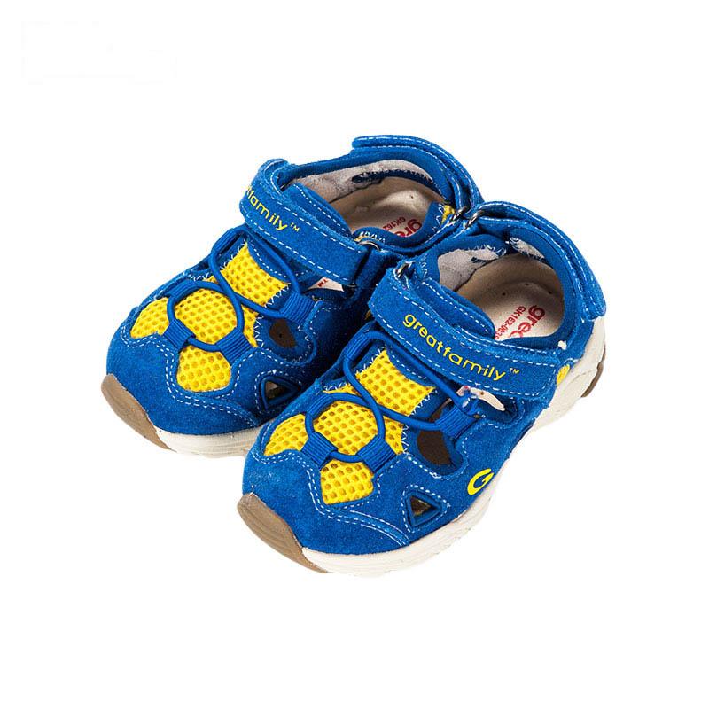 歌瑞凯儿男婴机能鞋GK162-003SH蓝13.5cm双