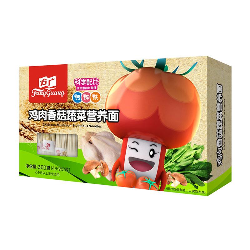 方广鸡肉香菇蔬菜面6个月以上300g