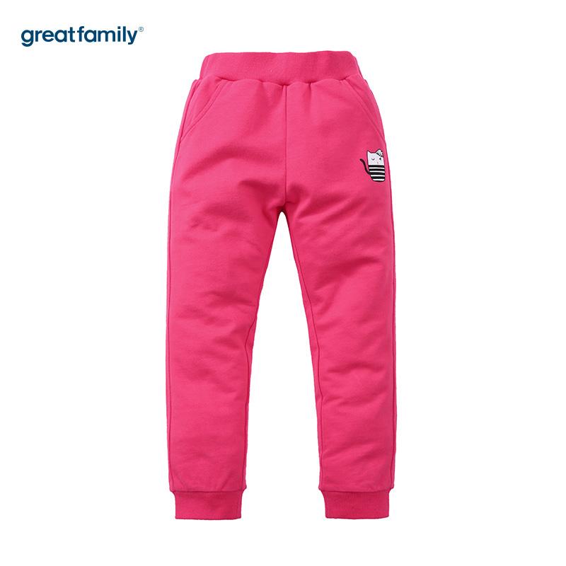 歌瑞家(网站特供)A类卫裤Classic系列红色女童针织长裤