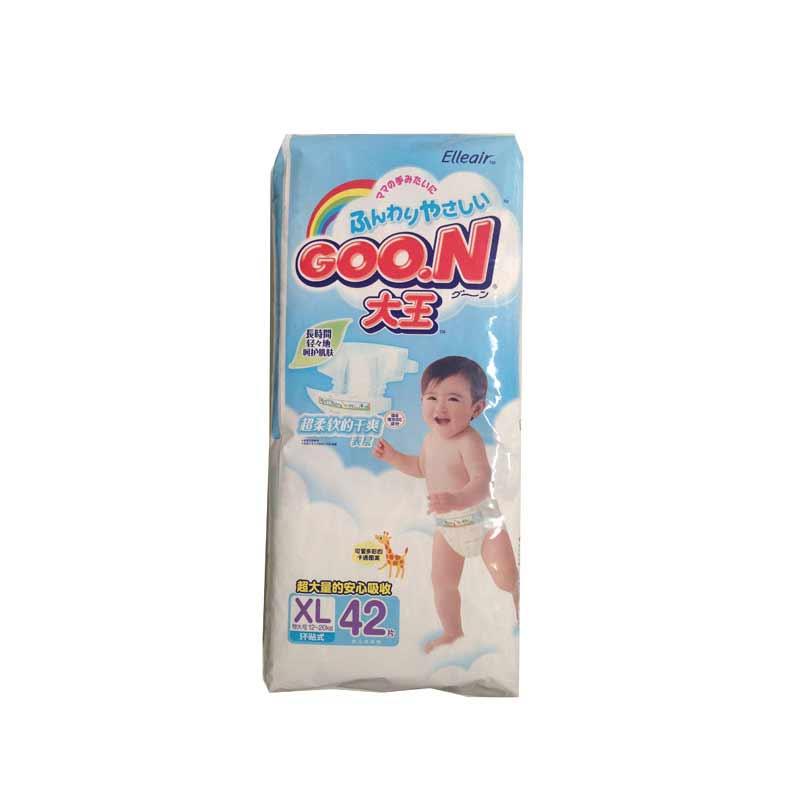 日本GOO.N大王维E系列纸尿裤XL42片中包