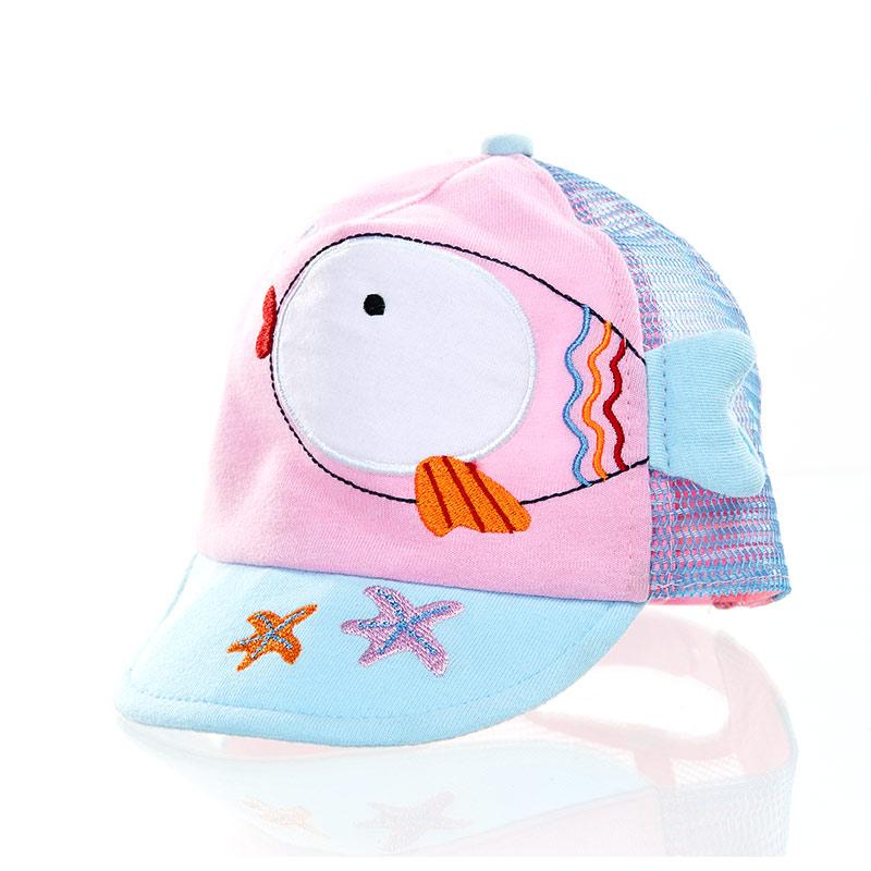 歌瑞凯儿(童配)--小鱼儿帽GK141-045A蓝44码个