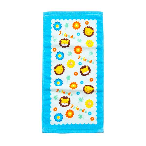 歌瑞贝儿(新)--小狮子割绒印花面巾GB130-242蓝混码