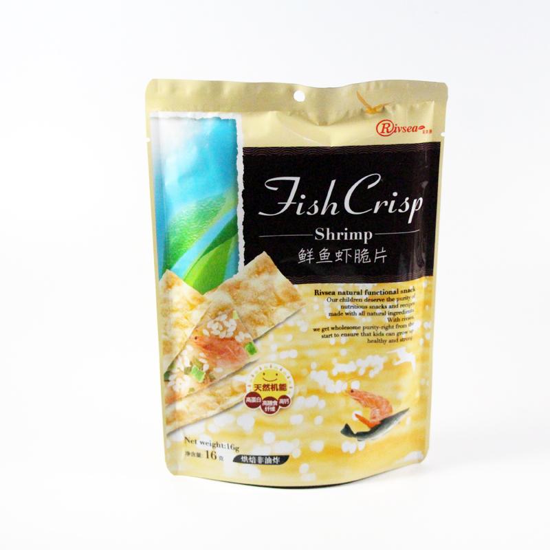 禾泱泱Rivsea鲜鱼虾脆片16g/袋