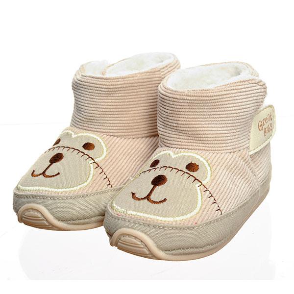歌瑞贝儿(新)--猴子宝宝鞋GB134-007SH灰12码双
