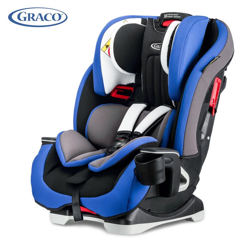 葛莱GRACO美国儿童汽车安全座椅基石系列8AE99BSAN蓝色 0-12岁