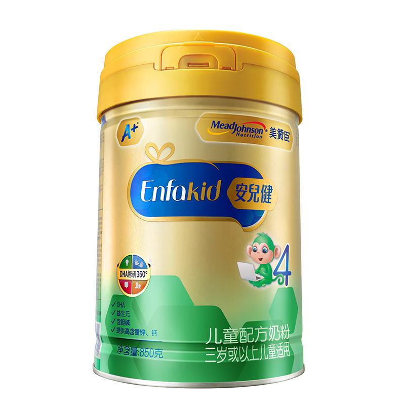 美赞臣妙锁盖安儿健儿童配方奶粉4段(3岁以上)850g桶