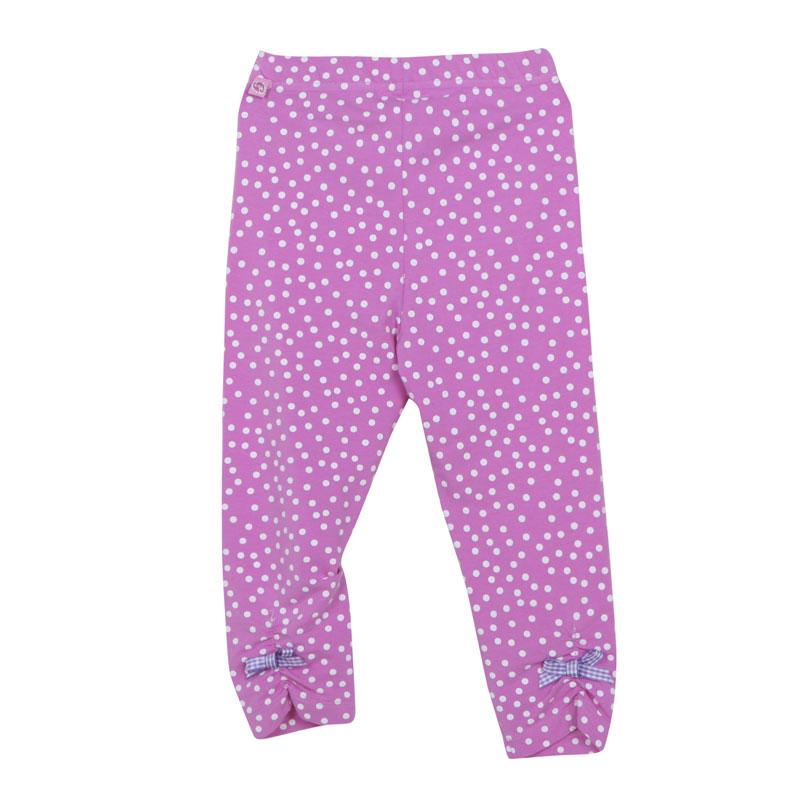 歌瑞家A类女童紫色波点针织打底裤