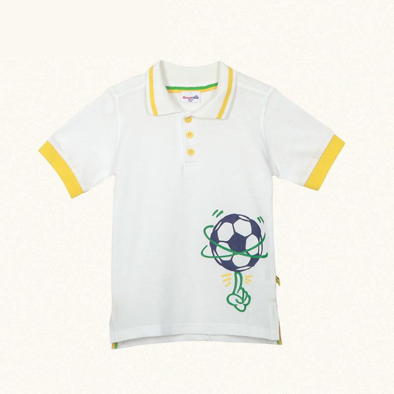 歌瑞凯儿A类男童polo领纯棉网眼短袖T恤
