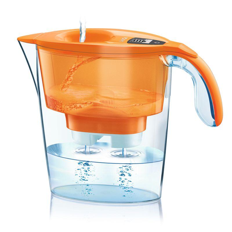 莱卡 时尚艺术免掀盖双流滤水壶  J433 明亮橙