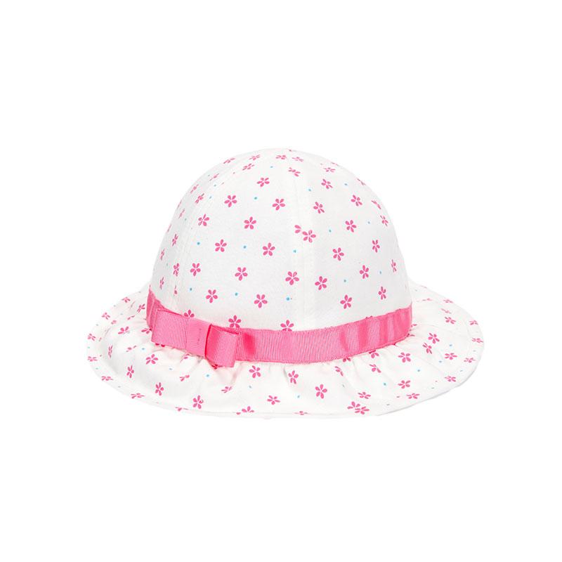 歌瑞凯儿女童圆点公主帽GB161-038A白46cm顶