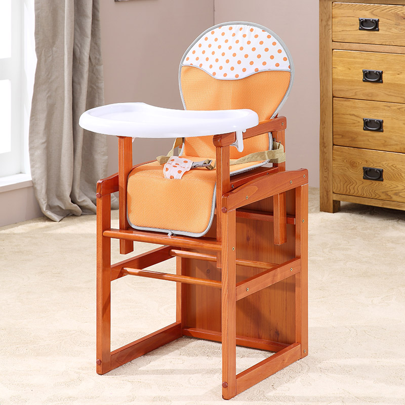 小硕士桃花芯木组合餐椅宝宝儿童椅可变摇椅可拆分