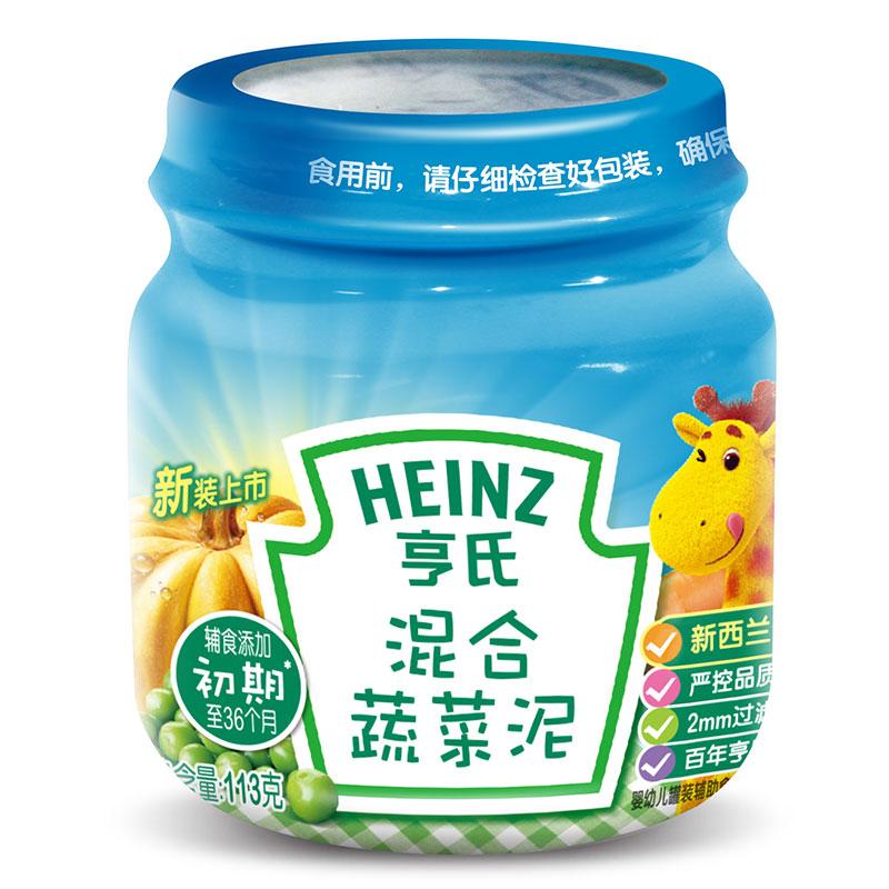 亨氏Heinz混合蔬菜泥113g6个月以上原料全球选材原汁原味无防腐剂