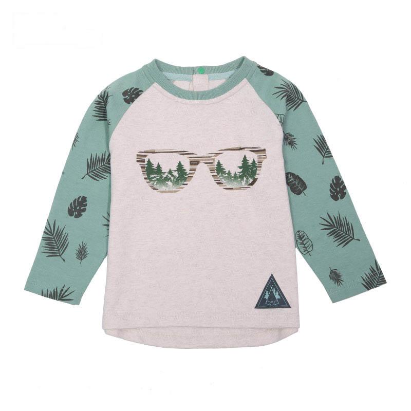歌瑞凯儿A类男童花色圆领长袖T恤