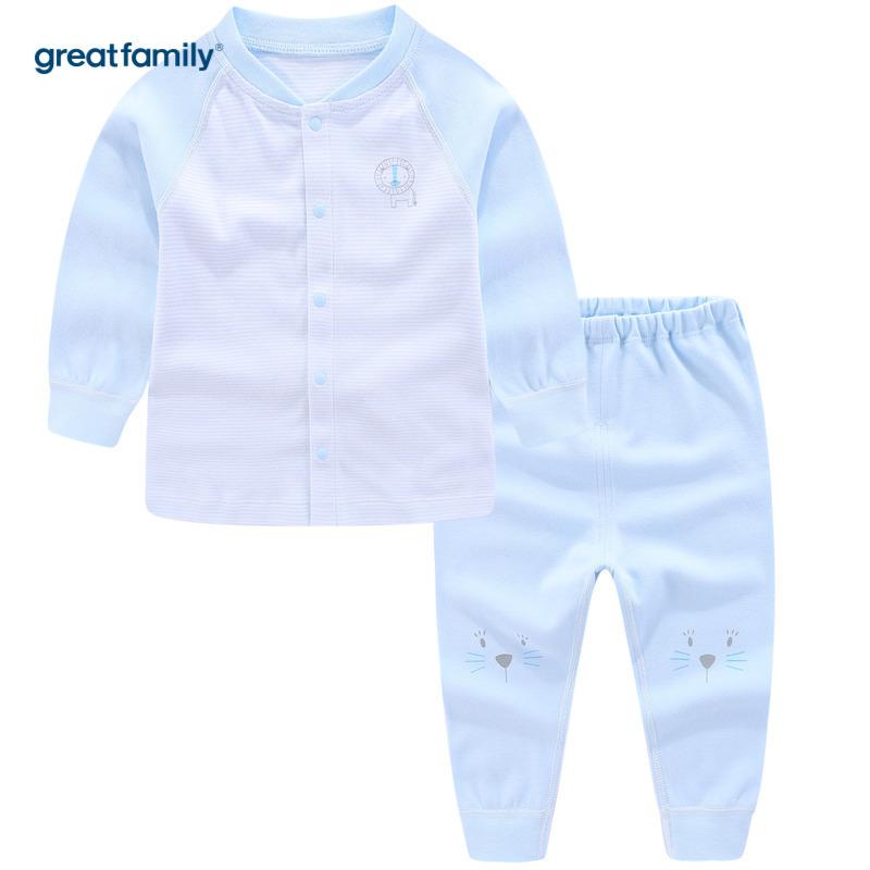 歌瑞家A类双面布系列蓝条男对襟套装