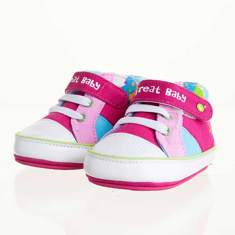 歌瑞贝儿(新)--炫彩宝宝鞋(女婴儿鞋)GB143-001SH梅红12CM