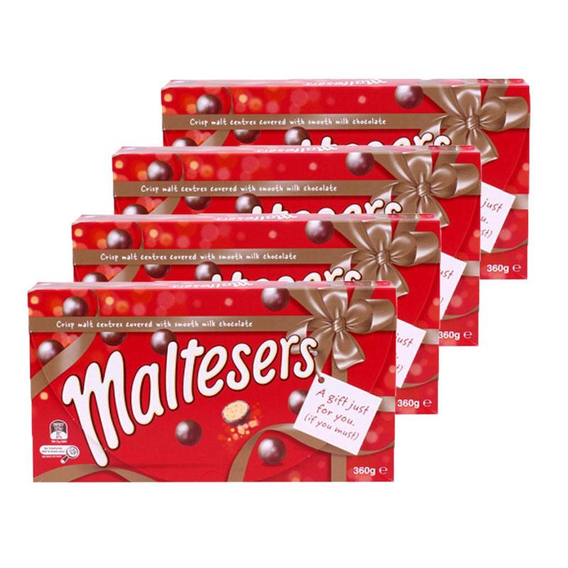 【新西兰直邮】Maltesers麦提莎巧克力麦丽素 礼盒装360g*4盒装