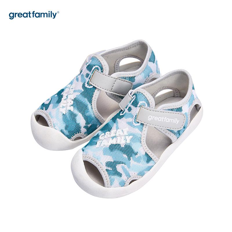 歌瑞家(greatfamily)男婴迷彩运动鞋GB182-009SH蓝13.5CM双