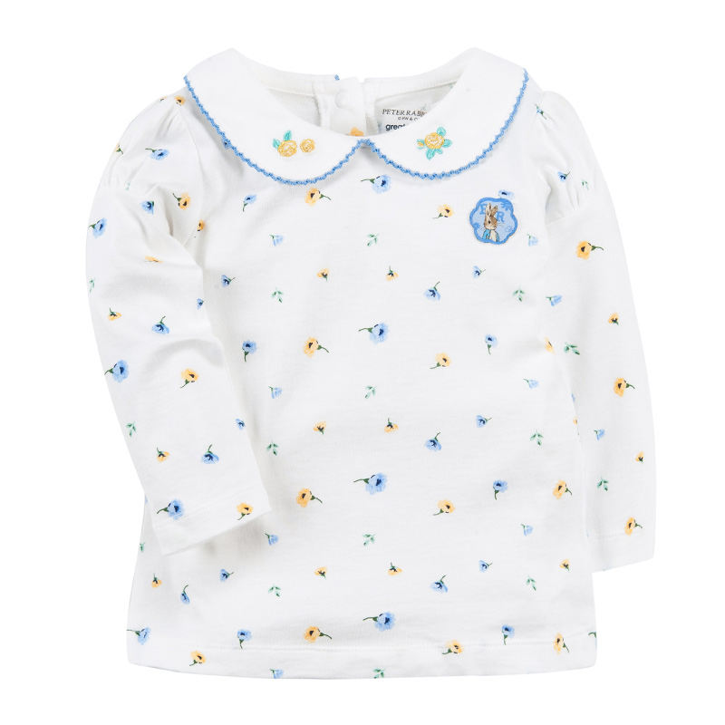 歌瑞家(比得兔)A类女宝宝花色泡袖T恤