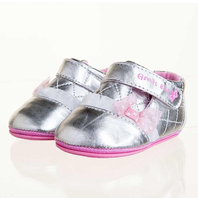 歌瑞贝儿(新)--炫银宝宝鞋(女婴儿鞋)GB143-006SH银色11CM