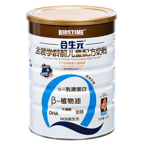 合生元超级金装4段学龄前儿童配方奶粉3至7岁900g欧洲原装进口