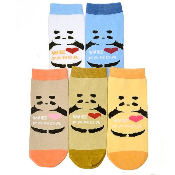 旭威--Love熊猫宝宝袜713(混色-3-5岁)