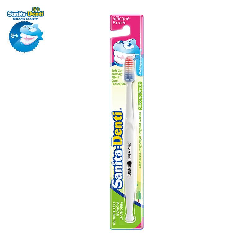 Denti莎卡韩国进口孕妇硅胶牙刷孕妇牙刷