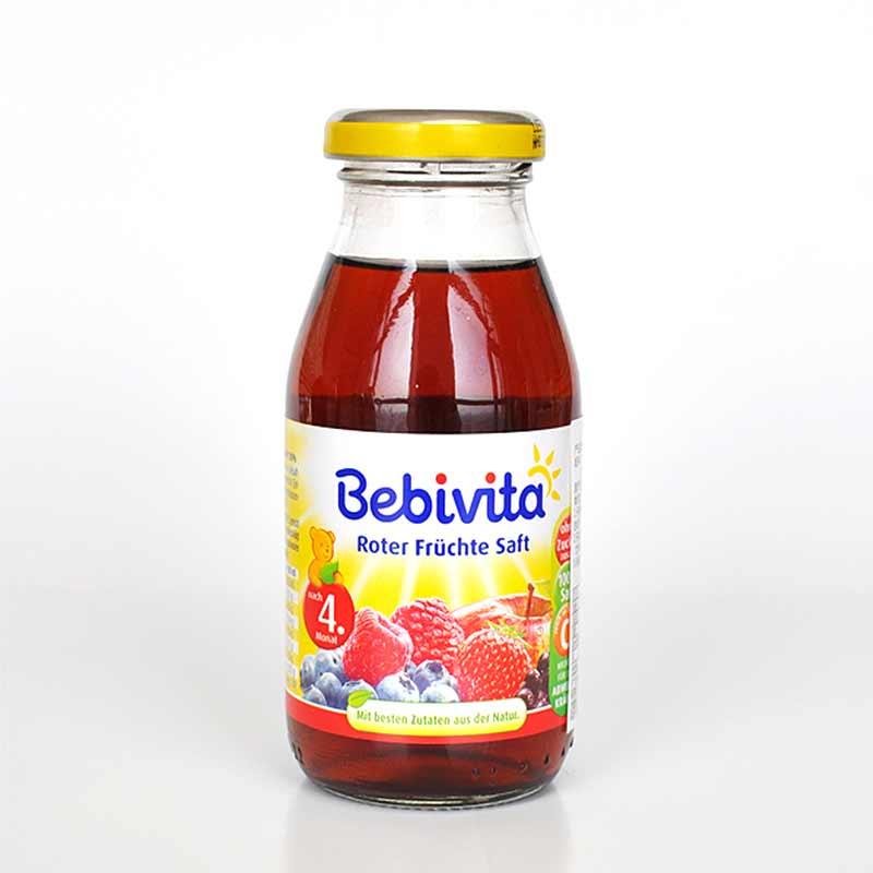 Bebivita贝唯他红色水果果汁200ml瓶匈牙利