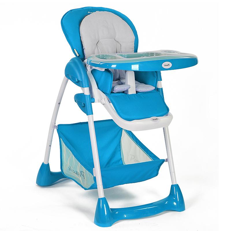 Pouch安全折叠多功能高低可调节吃饭儿童婴儿BB宝宝餐椅K02蓝色