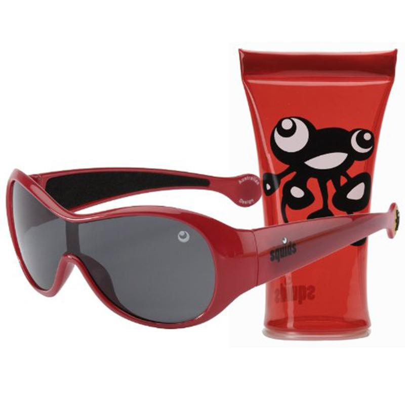 【乐海淘】澳洲minisquids太阳镜(3-10岁)抗紫外线红色香港直邮