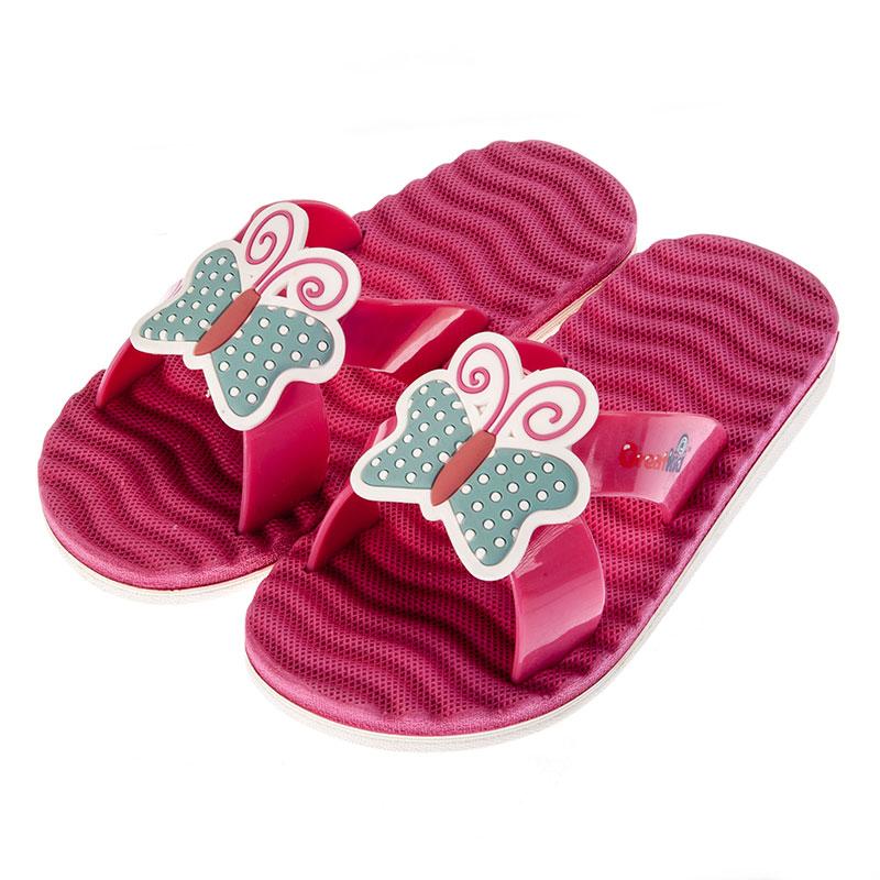 歌瑞凯儿女婴小蝴蝶拖鞋GK152-040SH粉14cm