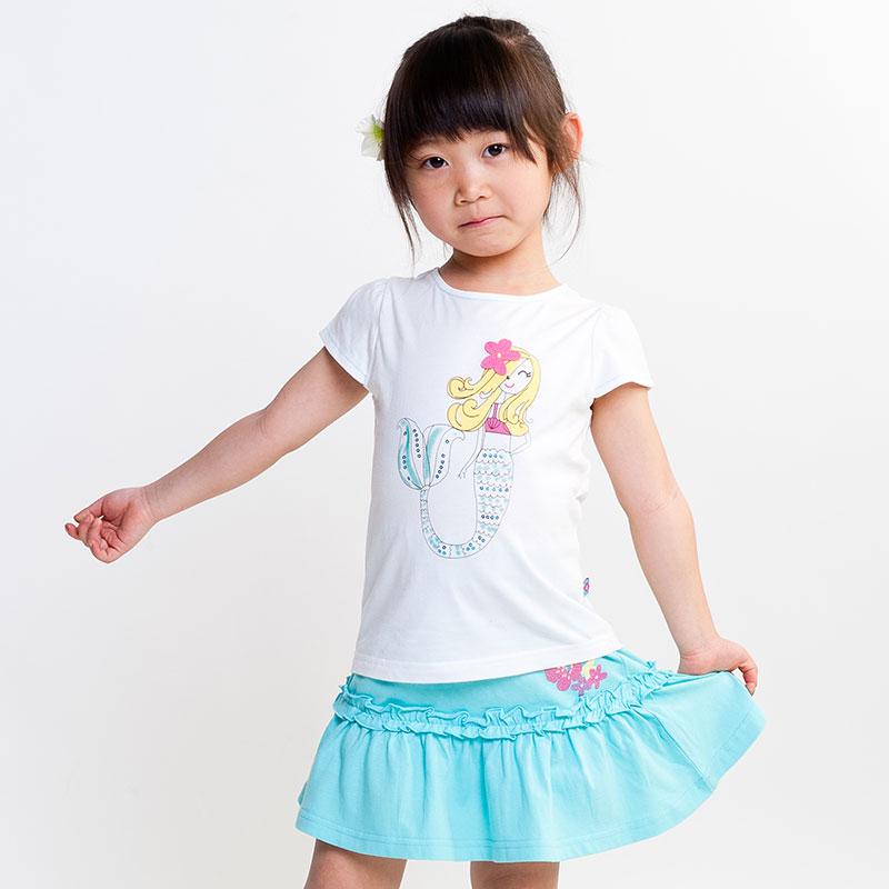 女童针织圆领T��(夏)