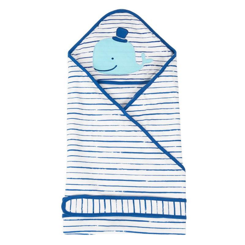 歌瑞贝儿竹纤维抱被90*90cm蓝